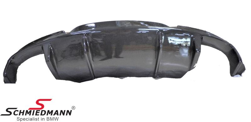 Rear Carbon Diffuser with large cut outs for double tailpipes in both sides, -EVO-